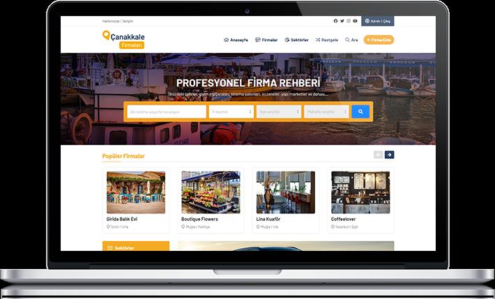 Hazır Firma Rehberi web sitesi